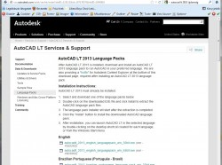 AutoCAD LT 2013: Nyelvcsomagok használata