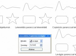 CorelDRAW X4: Sokszögek lekerekítése, lecsapása